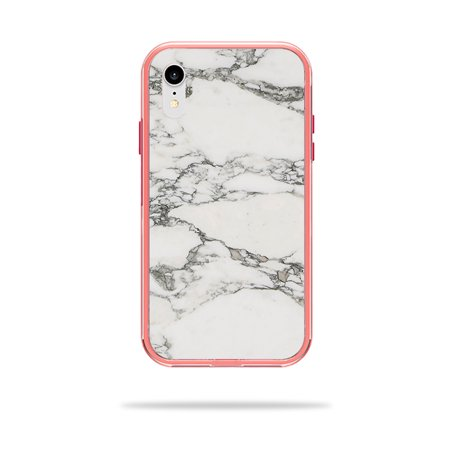 Skin for LifeProof SLAM iPhone XR Case - White Marble | Protective, Durable, and Unique Vinyl Decal wrap cover | Easy To Apply, Remove, and Change