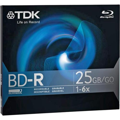 TDK - BD-R - 25 GB 6x - jewel case