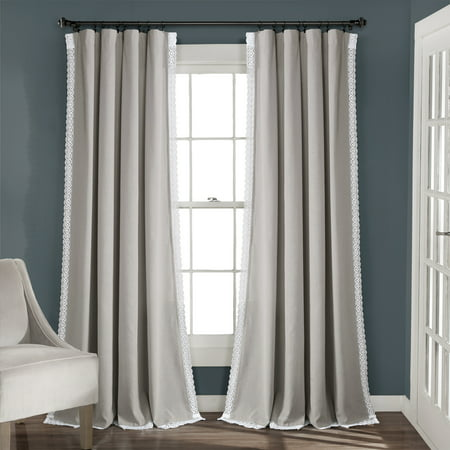 Rosalie Window Curtain Panels Light Gray 54x95 Set