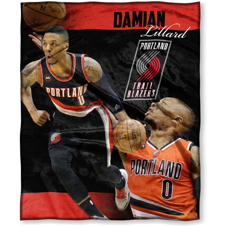 "NBA Damian Lillard 50"" x 60"" Portland Trail Blazers Players High Definition Silk Touch Throw"
