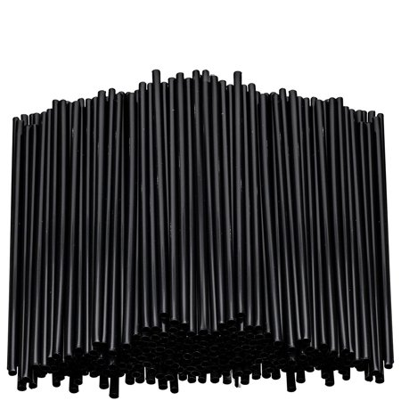Stirring Straws for Coffee Cocktail Black Plastic Sipping Stirrers 5 Inches Long Drink Stir Sticks For Bars Cafes Restaurants Home Use (5000, 5 - Stirring Straws