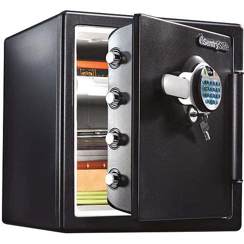 SentrySafe SFW123BTC Biometric Fire/Water Security Safe, 1.23 cu ft