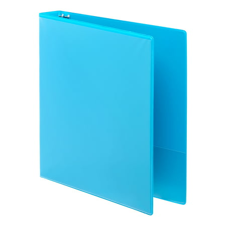 2 D-ring Presentation Binder - Pen + Gear 1-inch Durable View Binder, D Rings, Blue