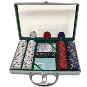 Trademark Poker 200 13 Gram Professional Clay Casino Chips with Clear Cover Aluminum Case