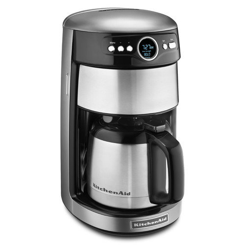 KitchenAid KCM1203CU Thermal Carafe Coffee Maker - 12 Cup - Contour Silver