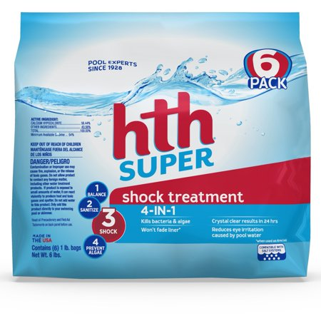 hth Pool Shock Super Shock Treatment 6 count 6lbs (52008)