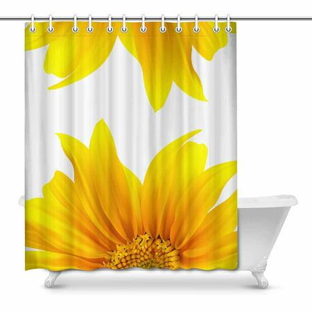 MKHERT Sunflower Modern Flourishing Yellow Summer Flower Waterproof Shower Curtain Decor Fabric Bathroom Set 66x72 inch ()