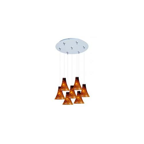 ET2 E93733-104SN Leopard 7-Light RapidJack Pendant and Canopy