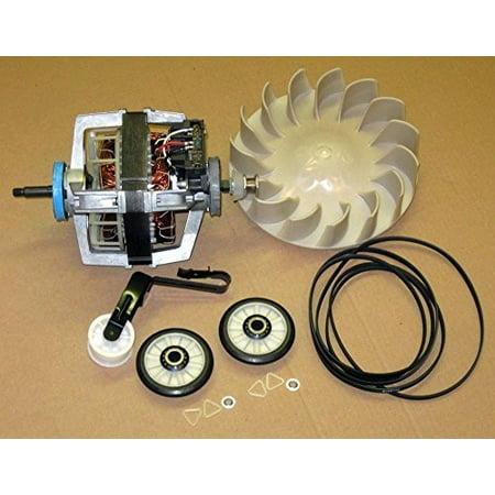 Major Appliances COMBO5 Dryer Motor 279827 Blower 694089 Belt Idler Rollers 4392065 for Whirlpool (Washer Motor Belt)