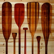 Parvez Taj Paddles Pinewood Wall Art