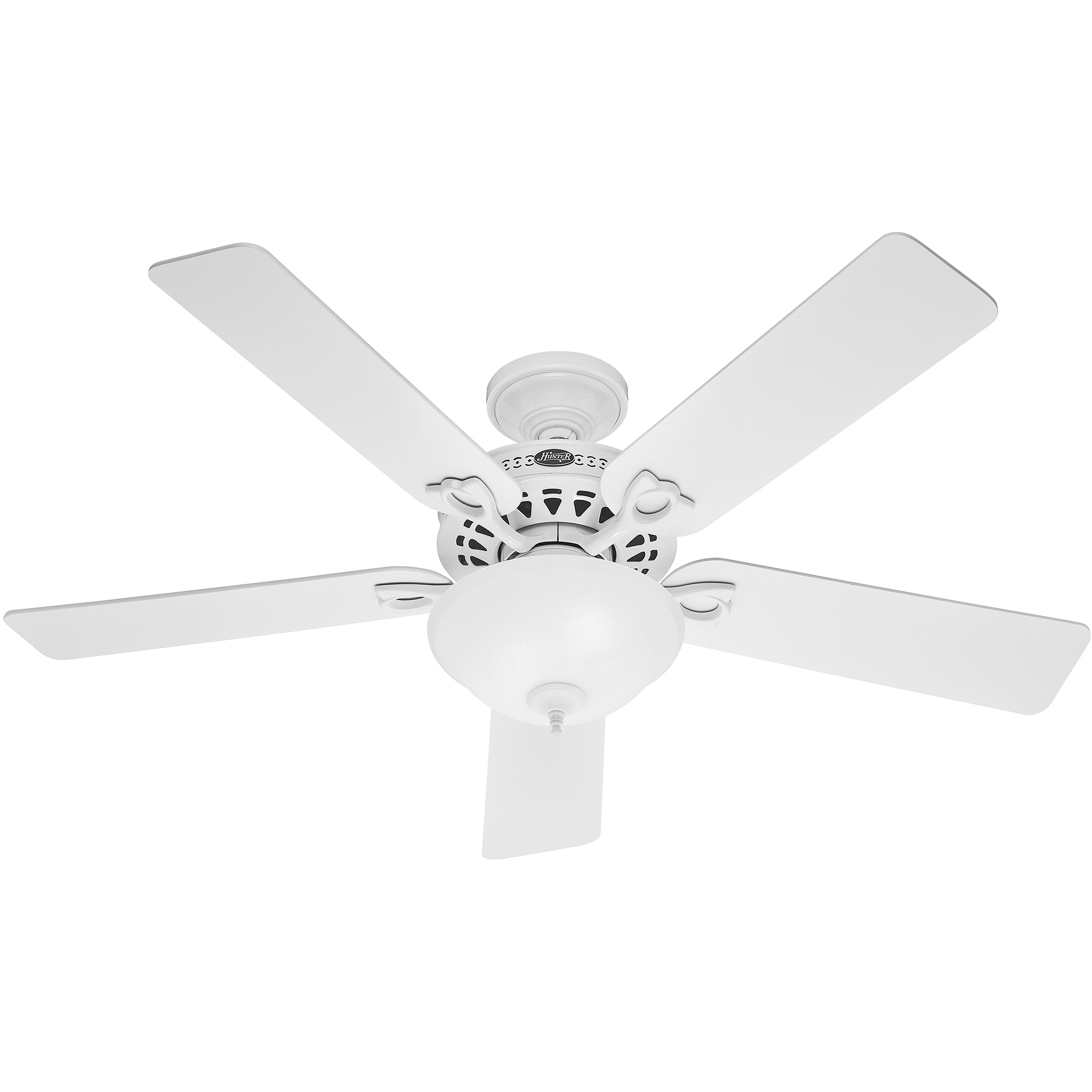 ceiling hunter fan lights white light hugger in for fans not fresh and wonderful with intended newsome