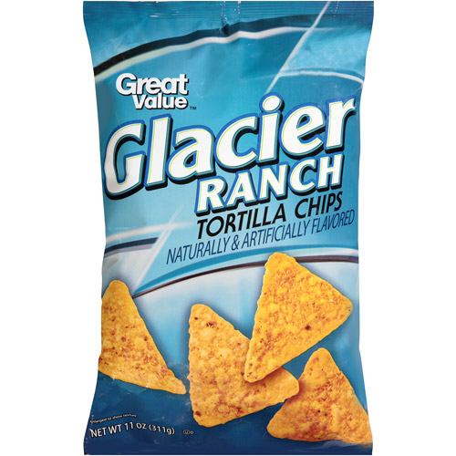 Great Value Glacier Ranch Tortilla Chips, 11 oz