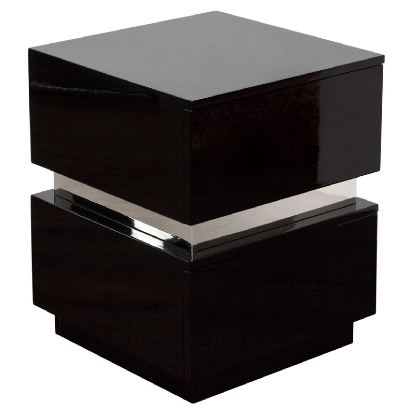 Diamond Sofa Elle 2 Drawer Accent Table