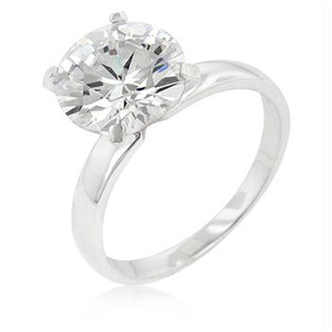 Timeless Solitaire Engagement Ring, <b>Size :</b> 08