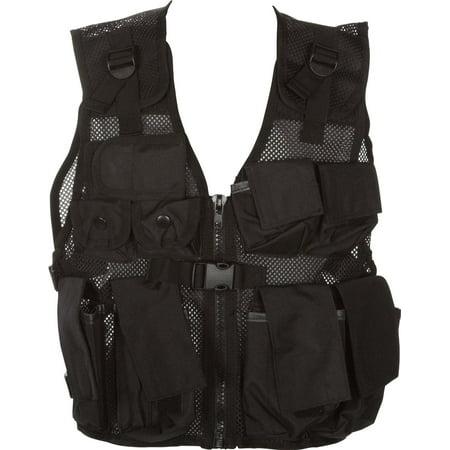 Junior Tactical Vest - Fits Teens 50-125lbs - By Modern Warrior (Black)
