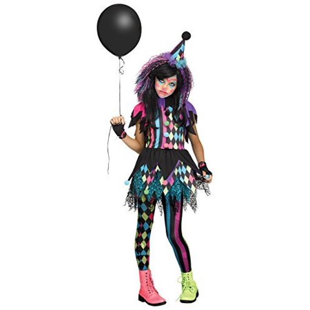 Girls Twisted Circus Clown Costume Large