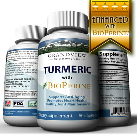 Turmeric Curcumin with BioPerine - Powerful Anti-Inflammatory Promotes Healthy Digestion Regulates Metabolism Weight Loss Helps Maintain Healthy Blood