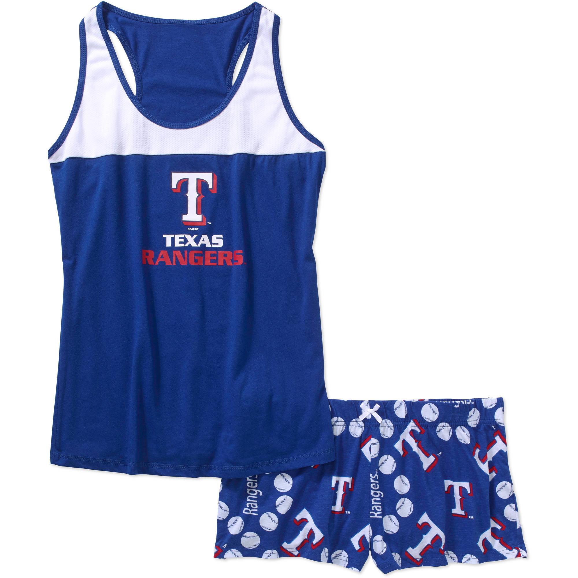 MLB Women s Texas Rangers Tank Top and Shorts Set Walmart