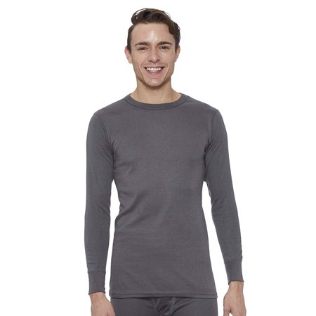 Rocky Men's Fleece Lined Thermal Long Sleeve Top Crewneck Underwear Baselayer T-Shirt Base Layer Fleece Top