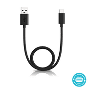 Motorola OEM 3.3ft SKN6473A USB-A to USB-C data/charging cable for Moto X4, Z Force/Play/Droid, Z2 Force/Play, Z3, Z3 Play, G7, G7 Play, G7 Plus, G7 Power, G6, G6 Plus [Not for G6 Play] (Retail Pack)