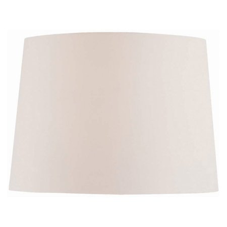 - Lite Source 14 in. Wide Base Table and Floor Drum Shade - Off White Fabric
