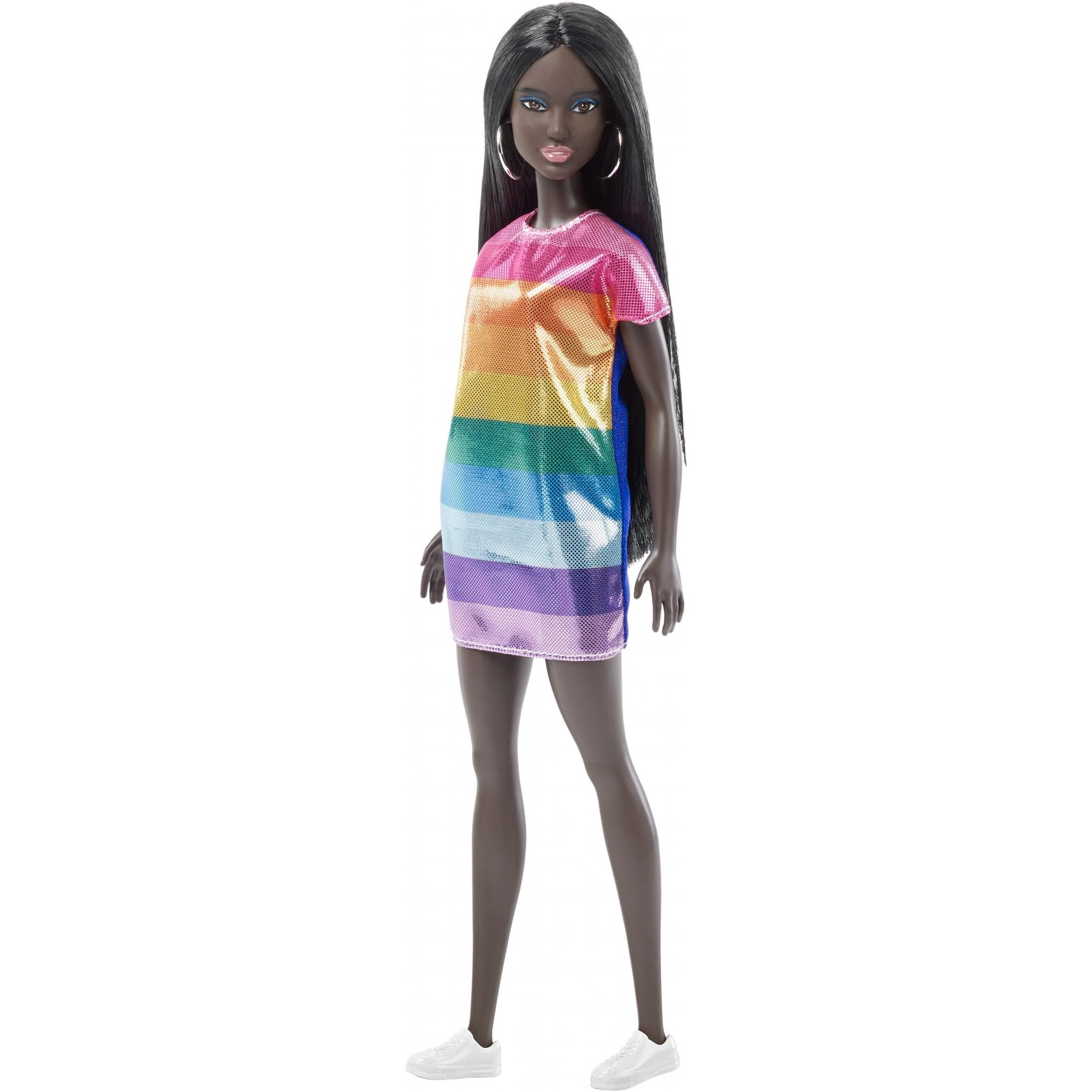NEW  2018 ORANGE /& WHITE STRIPED skirt  for Barbie doll FITS CURVY TOO