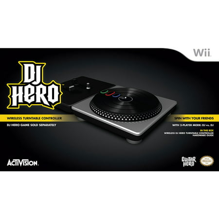 DJ Hero Stand-Alone Turntable - Nintendo Wii, Includes wireless DJ Hero Turntable controller, 2 batteries and hardware guide - DJ Hero software sold separately By Activision