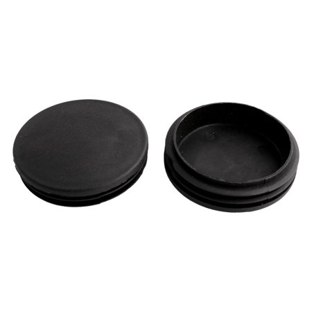 Household Office Plastic Round Furniture Legs Tube Insert Black 74mm Dia 5 Pcs - image 1 of 2