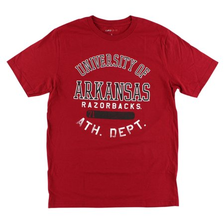 camp david mens arkansas razorbacks college thomas t shirt red. Black Bedroom Furniture Sets. Home Design Ideas