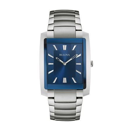 Bulova Men's Classic Silver Stainless-Steel Quartz Watch 96A169