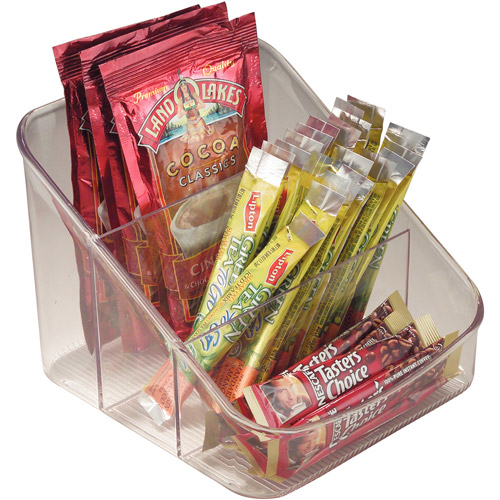 InterDesign Linus Spice Packet Organizer Bin for Kitchen Pantry, Cabinet, Countertops, Clear