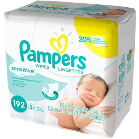Case 4 Refills - CPC PAMPER Pampers Sensitive Baby Wipes Refills, 4 Case of 192
