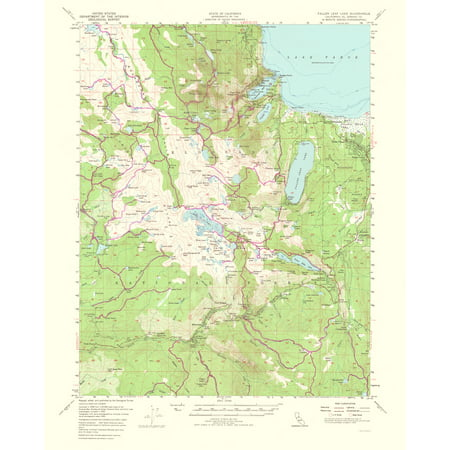 Topographical Map - Fallen Leaf Lake California Quad - USGS 1964 ...