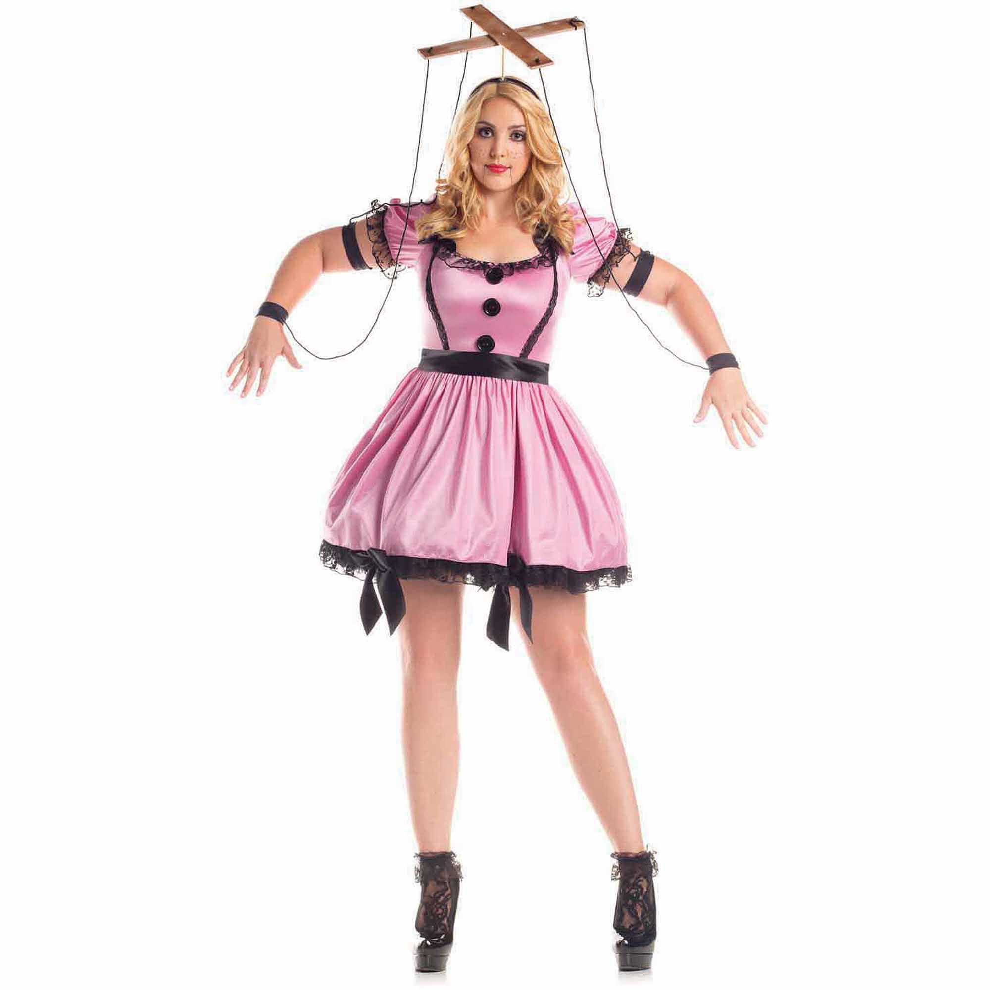 Women's Plus Size Pink Marionette Costume - Walmart.com