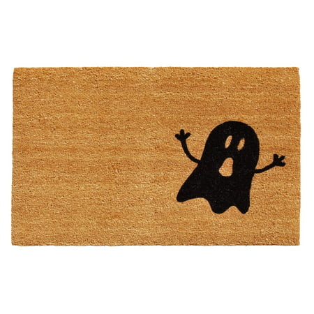 Natural/Black Ghost Doormat (Halloween Doors And More 2017)