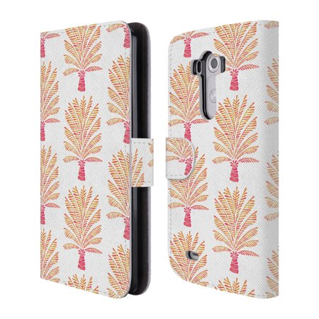 OFFICIAL CAT COQUILLETTE TROPICAL LEATHER BOOK WALLET CASE COVER FOR LG PHONES 2