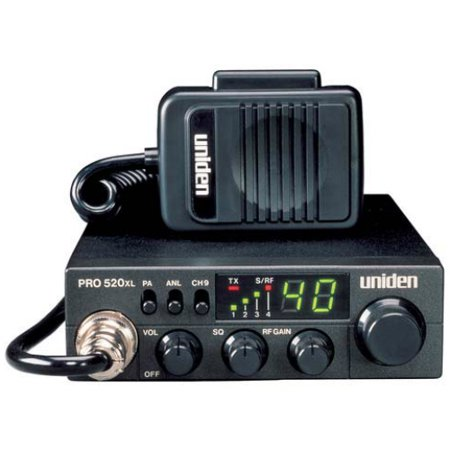 Uniden PRO520XL 40-Channel 4-Watt Compact CB Radio and Tram 703-HC Center  Load CB Antenna Kit