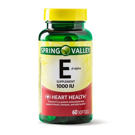 Spring Valley Vitamin E D-Alpha Softgels, 1000 IU, 60
