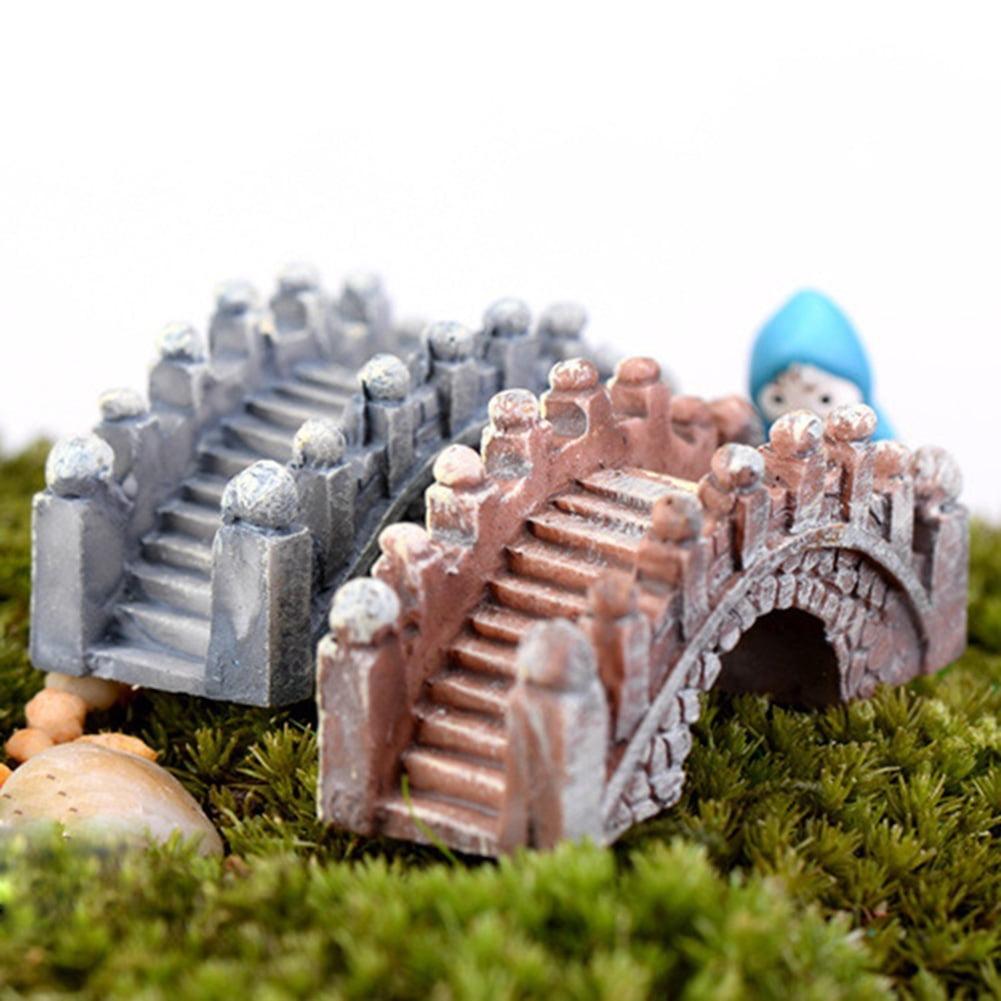 Directer 2 Pcs Retro Arch Bridge Fish Tank Aquarium Micro Landscape Miniature Ornaments