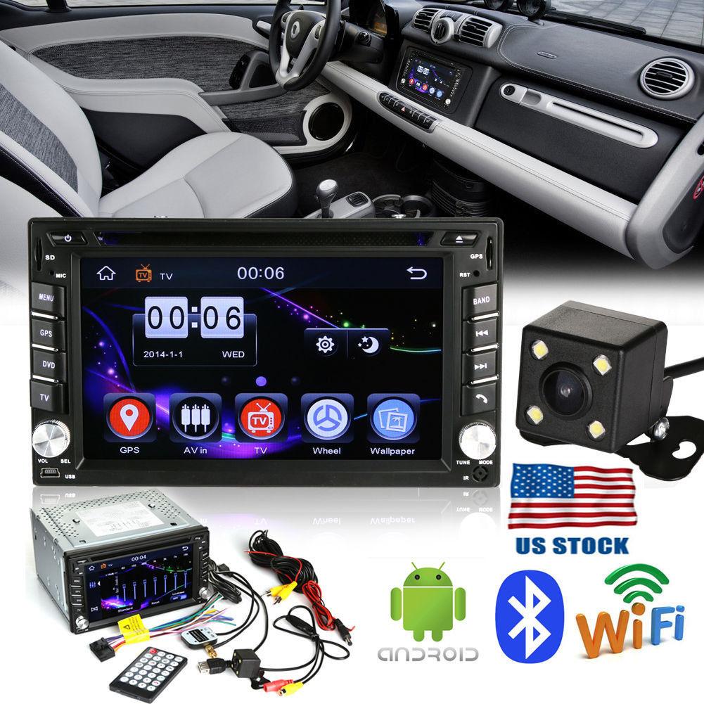 "2DIN 6.2"" Car Stereo MP3 DVD CD Player Bluetooth Radio GPS Navi+Rearview Camera by Universal E-Business LLC"