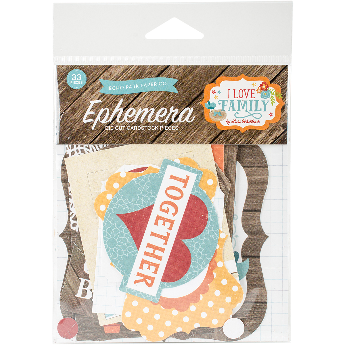 I Love Family Ephemera Cardstock Die-Cuts 33/Pkg-