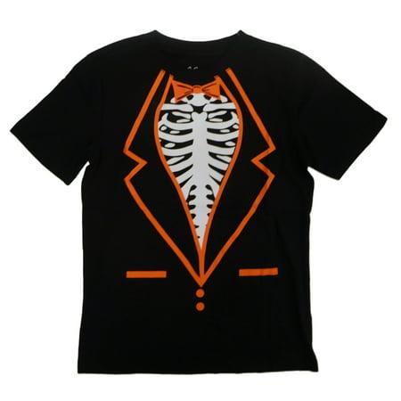 Boys Black Skeleton Vampire Undead Zombie Suit Halloween - Zombies Run Halloween Shirt