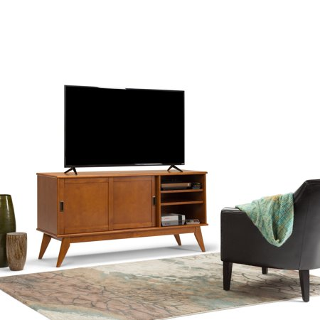 WyndenHall  Tierney SOLID HARDWOOD 60 inch Wide Mid Century Modern TV Media Stand For TVs up to 65 inches - 60