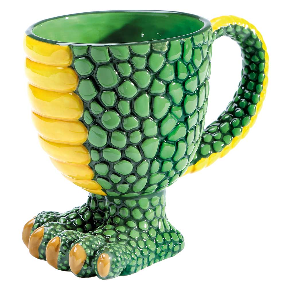Hilarious Green Footed Dragon Coffee Mug - Large 14 Oz
