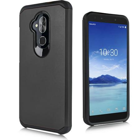 "for 6"" Alcatel 7 6062 Carbon Slim SGP Shock Proof Bumper Phone Case black"