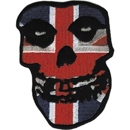 MISFITS BRITISH SKULLPatch, Officially Licensed Products Classic Rock Artwork, Iron-On / Sew-On, 3