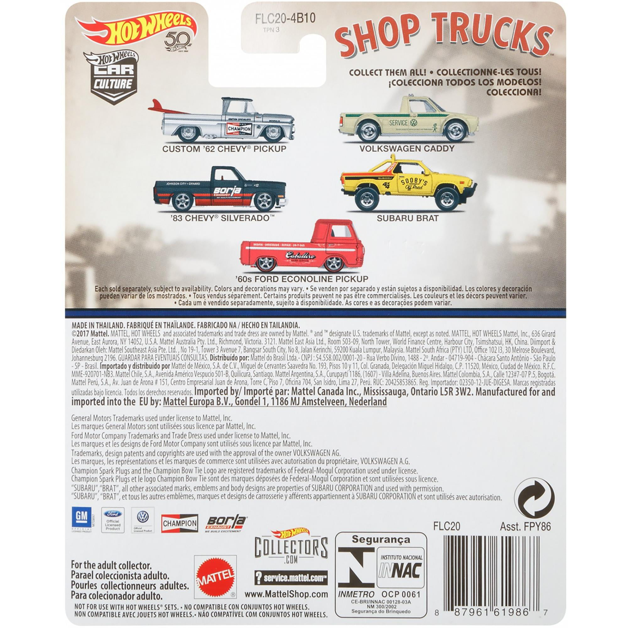 CUSTOM/'62 CHEVY PICKUP negozio Trucks car culture 1:64 HOT WHEELS flc20 fpy86