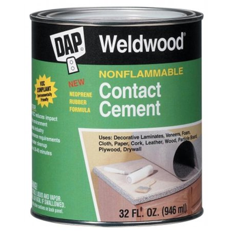 DAP 25332 1 Quart Non Flammable Contact Cement