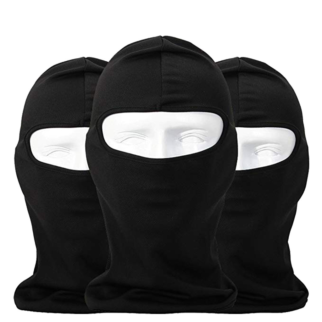 White Outdoor Ultra-Thin Motorcycle Cycling Ski Full Face Mask Neck Protect Great for Men Women