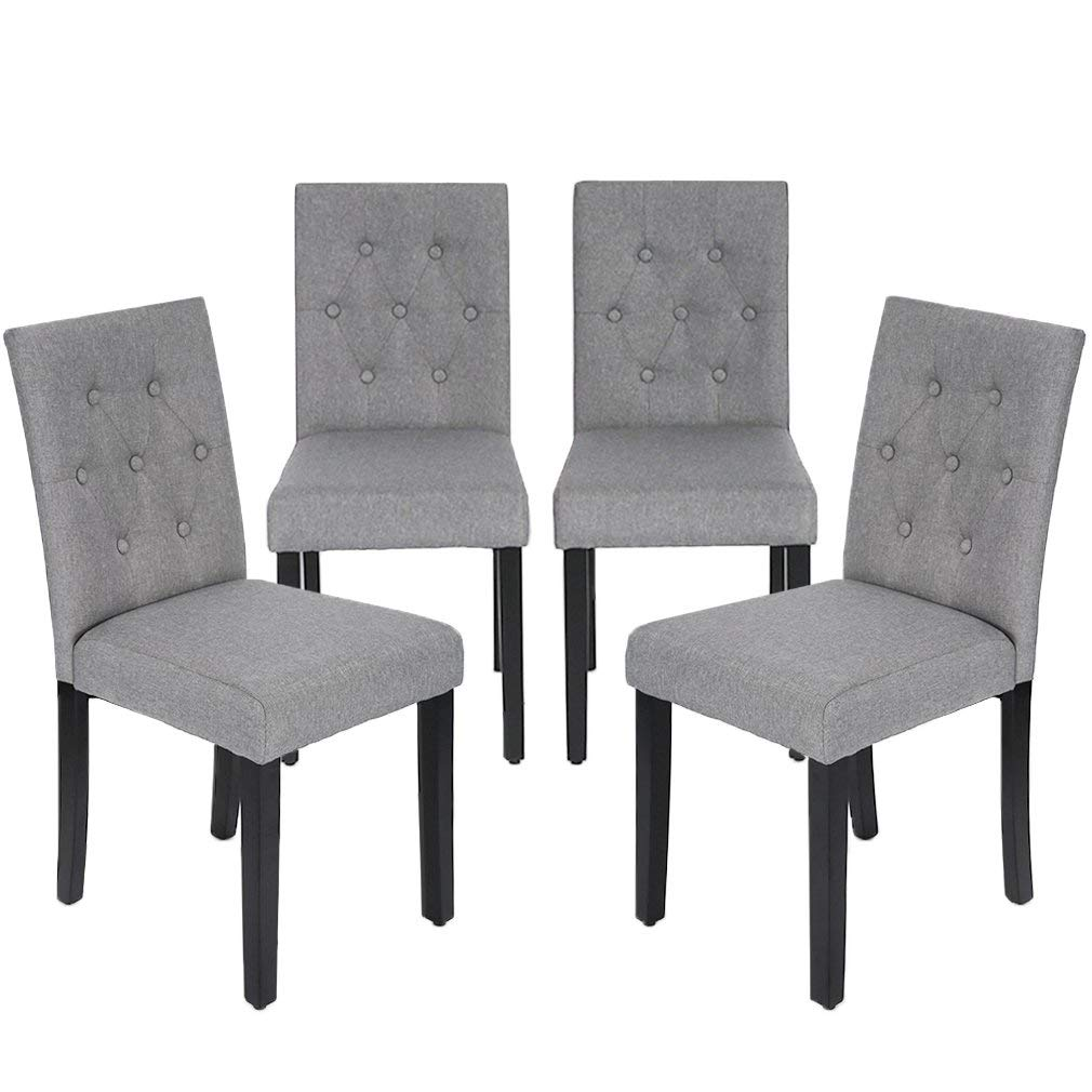 Accent Dining Room Chairs: Kitchen Dining Chairs Armless Room Chair Accent Solid Wood
